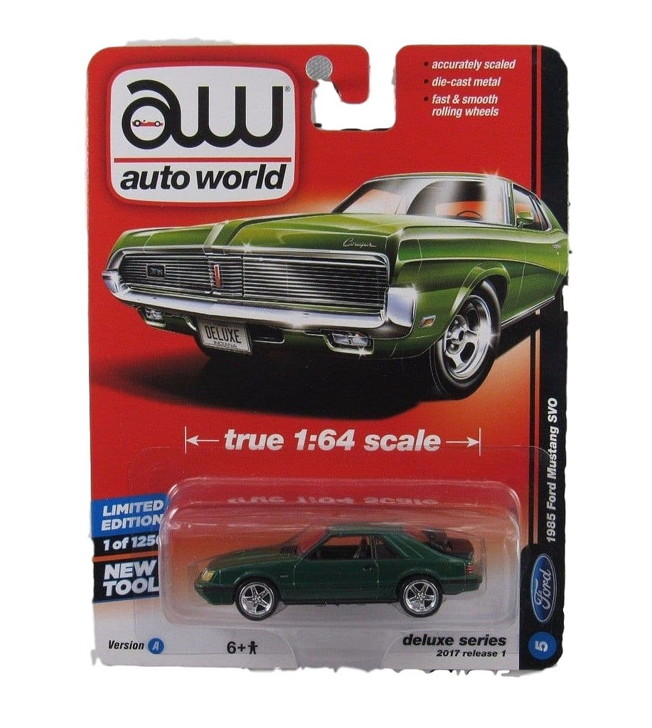 Auto World 64021 1:64 Deluxe Series 1985 Ford Mustang Version A