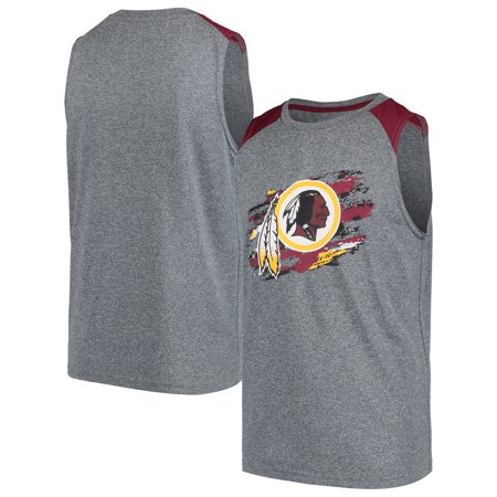 Washington Redskins NFL Pro Line by Fanatics Branded Youth True Colors Sleeveless T-Shirt - Heathered Gray - Redskins Colors