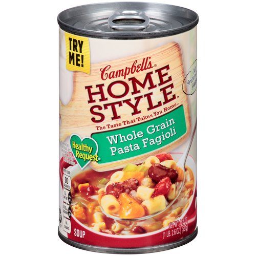 Campbell's Homestyle Healthy Request Whole Grain Pasta Fagioli Soup 18.6oz