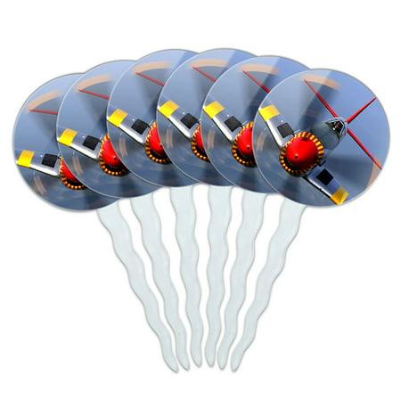 World War 2 II Fighter Plane Aircraft Cupcake Picks Toppers - Set of (Best World War 2 Fighter Plane)