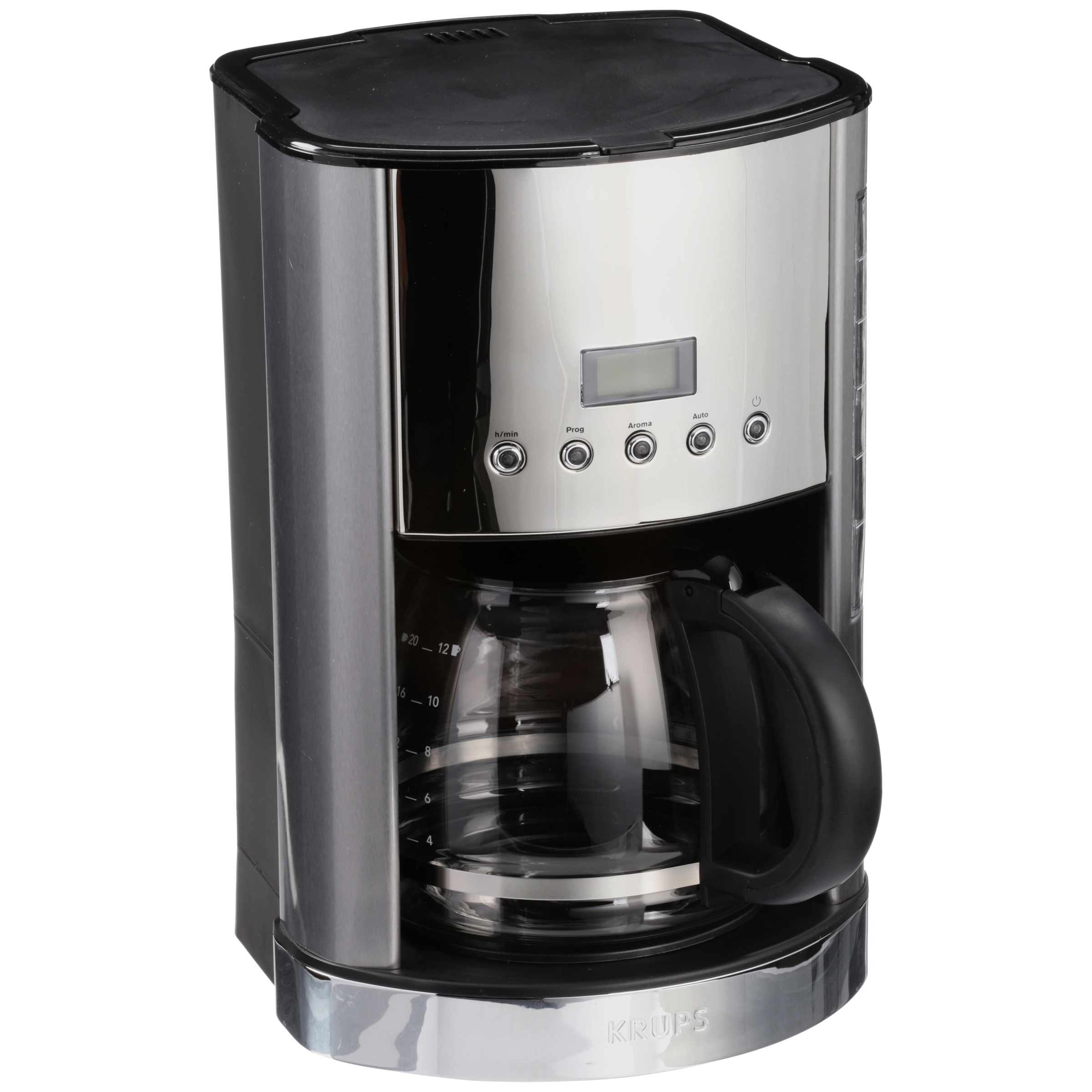 Breakfast Set Coffee Maker in Brushed Chrome and Stainless Steel