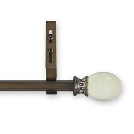 Source Global Enterprises Estate Luna Adjustable Single Curtain Rod