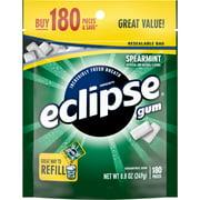 Eclipse Gum, Spearmint, Sugar Free, 180 Piece Bag