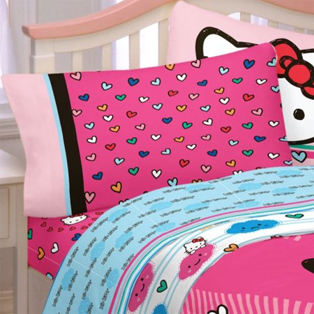 Franco Manufacturing 12440482 Hello Kitty Bed Sheet Set Free Time Bedding