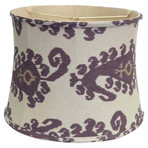 Amita Trading Inc. Purple Paisley Linen Lamp Shade