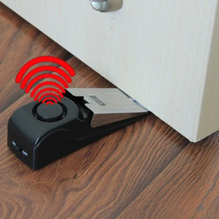 Wireless Vibration Triggered Alert Security System Door Stop Blocking Alarm - image 6 of 12