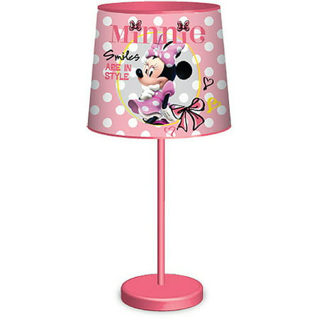 disney minnie mouse table lamp pink. Black Bedroom Furniture Sets. Home Design Ideas