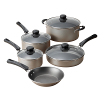 Tramontina 9-Piece Non-Stick Cookware Set (Champagne)
