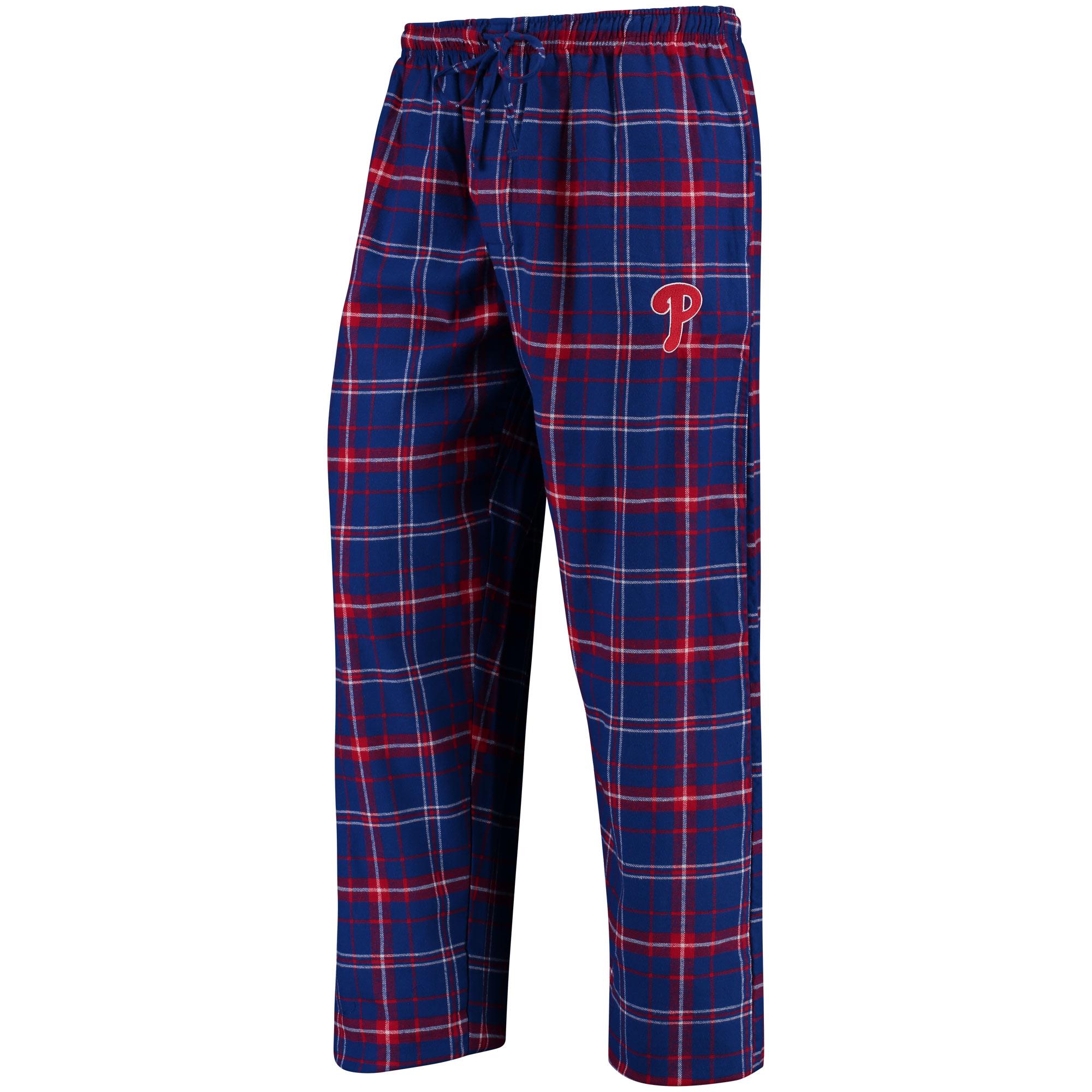 Philadelphia Phillies Concepts Sport Ultimate Plaid Flannel Pants - Royal/Red