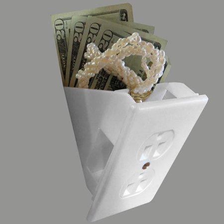 Evelots Hidden Wall Outlet Diversion Safe, Fake Safe to Hide Cash and (Best Hidden Home Safe)