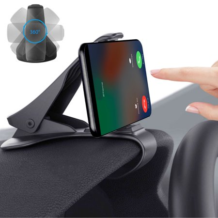 EEEKit Car Mount, HUD Simulating Design Phone Holder Universal Adjustable Dashboard Clip Cradle for iPhone X 8 7 Plus Samsung Galaxy Note 8 S8 S9