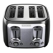 BLACK+DECKER TR1478BD 4-Slice Toaster, Bagel Toaster, Black