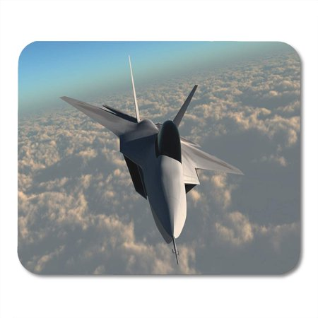 LADDKE Blue Raptor F22 Fighter Jet F 22 Flies at Mousepad Mouse Pad Mouse Mat 9x10 inch