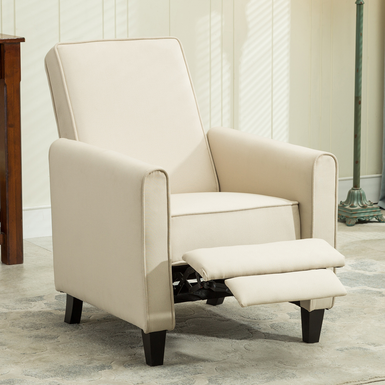 accent chairs living room belleze modern recliner club chair accent living room w 12114