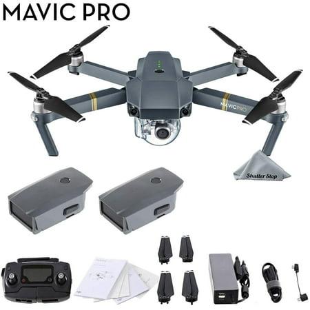 DJI Mavic Pro 4k Quadcopter Drone 2 Battery Bundle