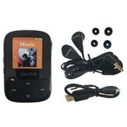 SanDisk Clip Sport Plus 16GB MP3 Player FM Radio Bluetooth Water-Resistant Black - Refurbished