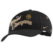 LSU Tigers Nike College Football Playoff 2019 National Champions Locker Room Adjustable Hat - Black - OSFA
