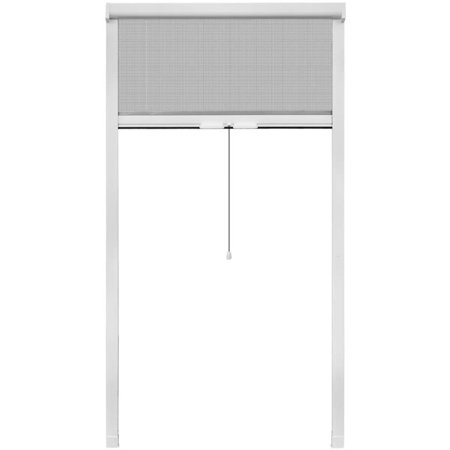 HERCHR White Roll Down Insect Screen for Windows 39.4