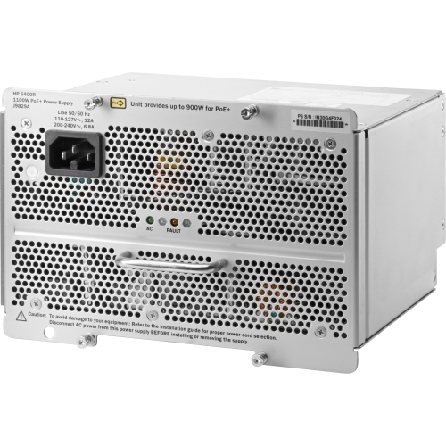 Hewlett Packard J9829A#ABA HP 5400R 1100W PoE+ zl2 Power Supply 1.10 kW 120 V AC, 230 V AC by HP