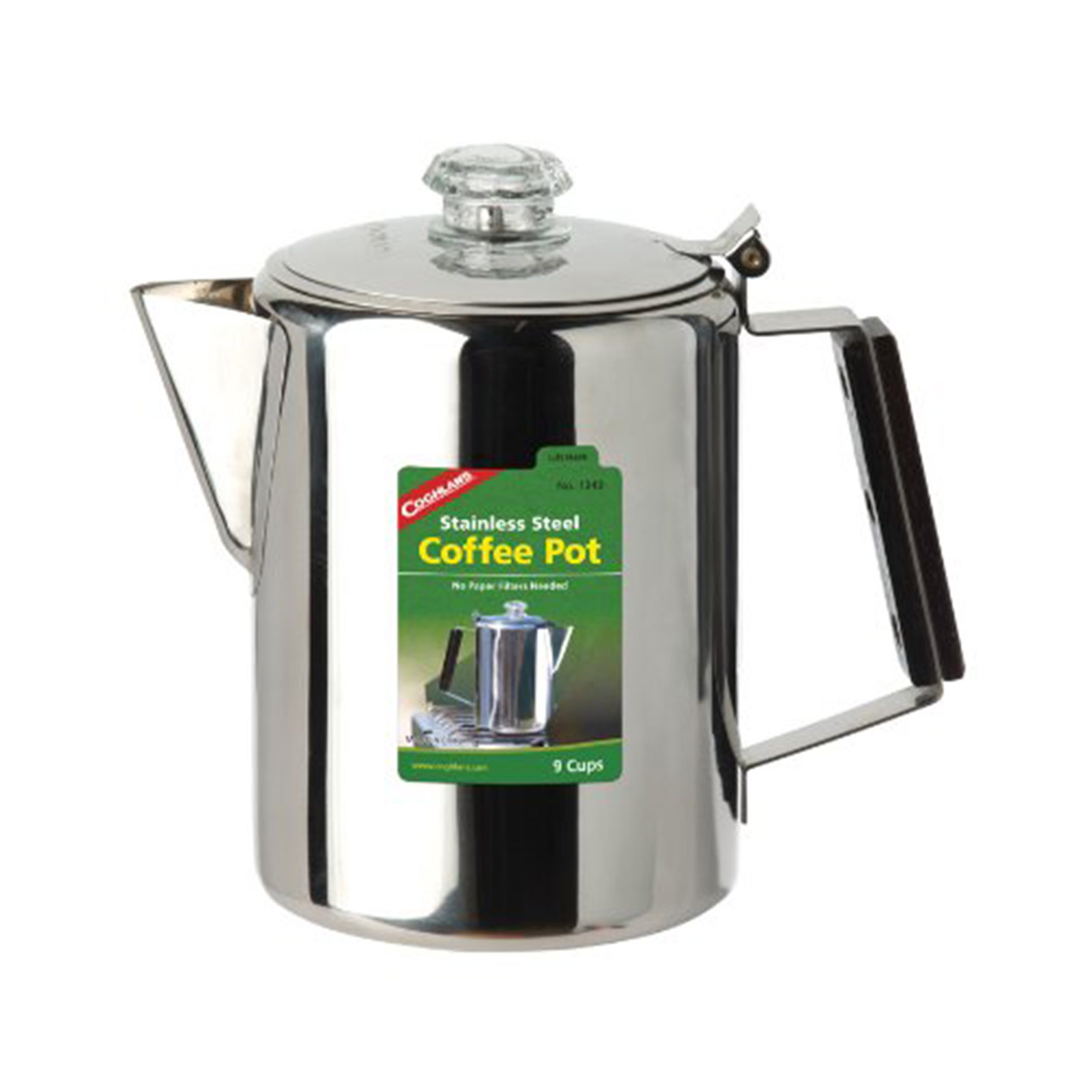Coghlan's 9-Cup Coffee Percolator, 1340, Stainless Steel