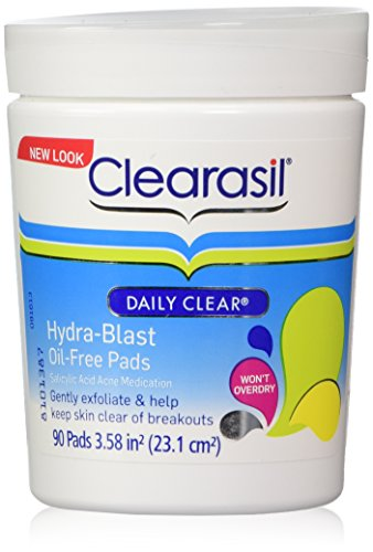 Clearasil Daily Clear Hydra-Blast Oil Free Pads 90 Facial Pads Lreve 60 Second Instant Lifting Serum & Diamond Night De-Stressing Cream