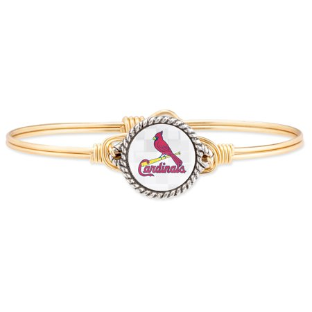 St. Louis Cardinals Luca + Danni Women's Bangle Bracelet - Gold Leather St Louis Cardinals Bracelets