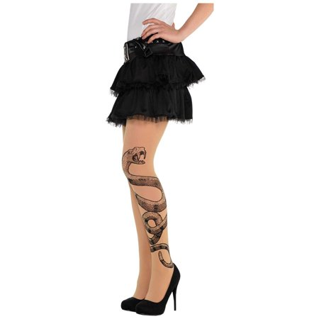 Witch Doctor Item (amscan Witch Doctor Snake Tights Halloween Costume Accessories, One)