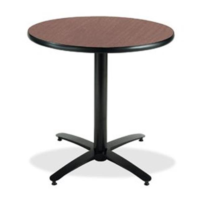 """KFI 30"""" Dark Mahogany Round Pedestal Table with Arched X Base  Commercial Grade  Made in the USA - image 1 de 1"""