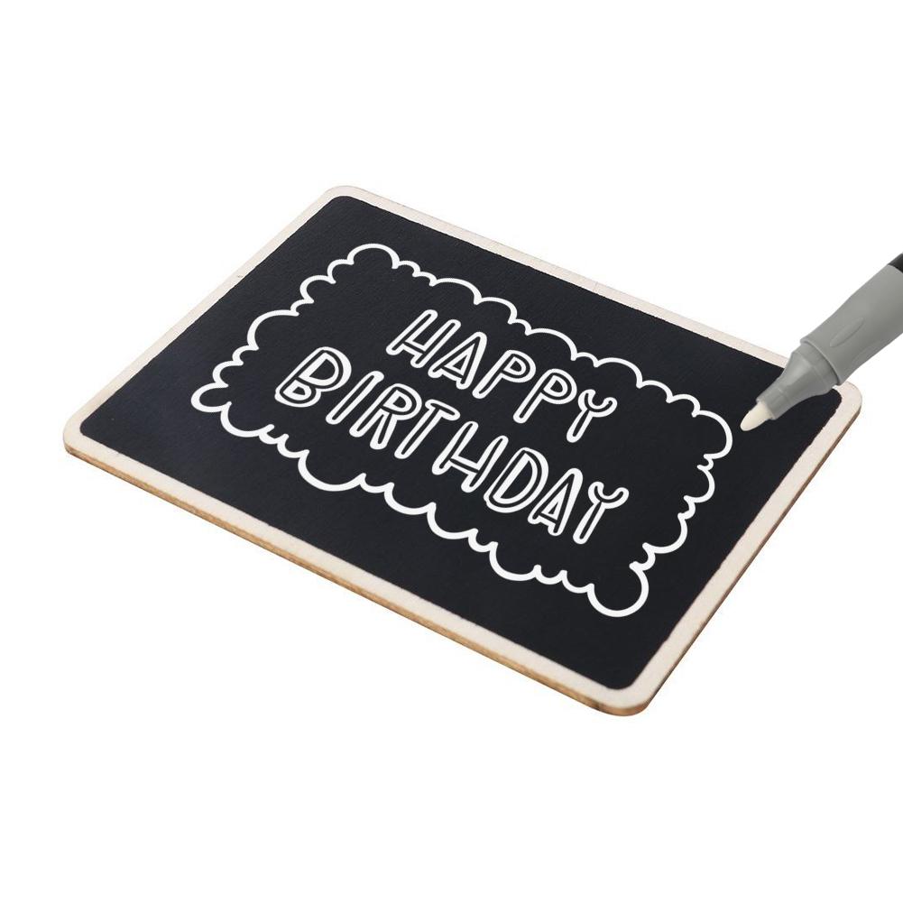 Cottcuboaba Mini Multi Blackboard Mini Chalkboards Wooden Mini Blackboard Signs BlackBoard Message Memo Chalk Board