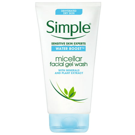 Simple Water Boost Sensitive Skin Micellar Facial Gel Wash, 5