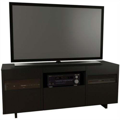 "Nexera Vision Black 60"" TV Stand For TVs up to 66"""
