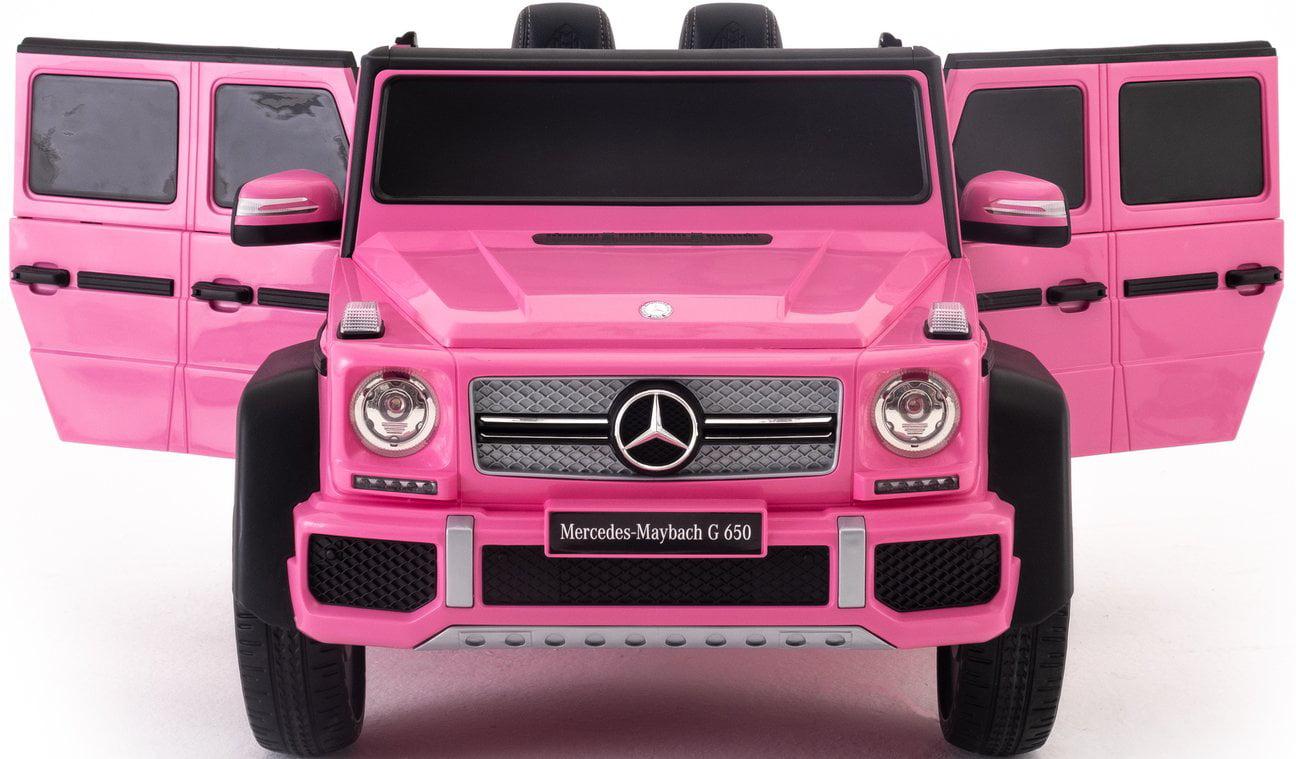 2021 Mercedes Maybach G650 Ride On Kids Toy Car 12v Amg Upgraded Version W Remote Control Mp3 3 Speeds Led Lights Pink Walmart Com Walmart Com