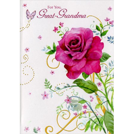 Designer Greetings Single Pink Rose: Great-Grandma Mother's Day Card](Mothers Day Cards For Grandma)