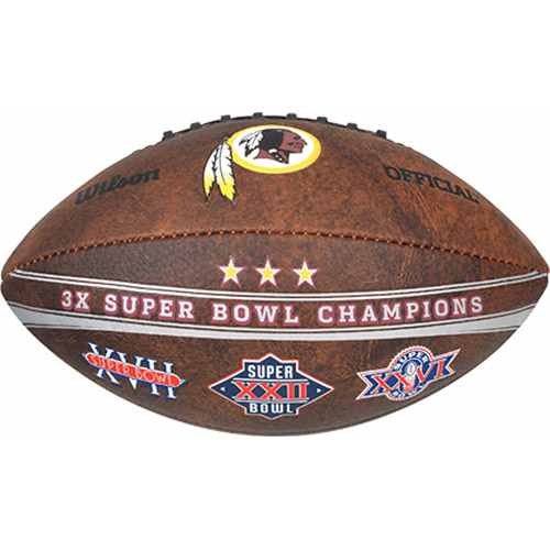 "Wilson NFL Commemorative Championship 9"" Football, Washington Redskins"