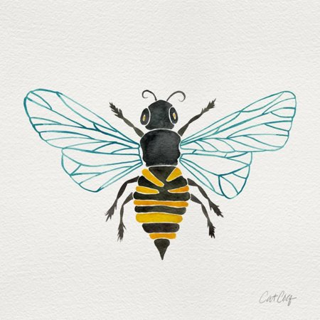 Honey Bee Print Wall Art By Cat Coquillette