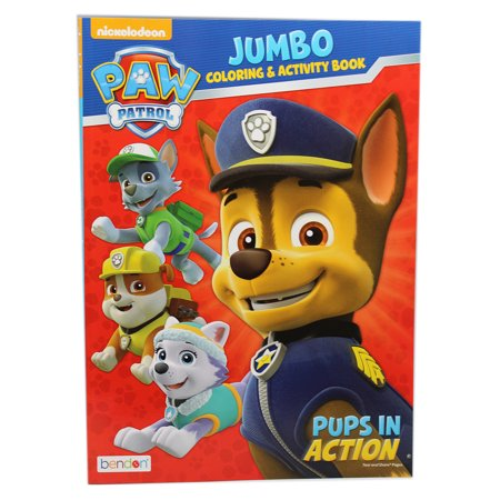 Paw Patrol Pups in Action Jumbo Coloring and Activity