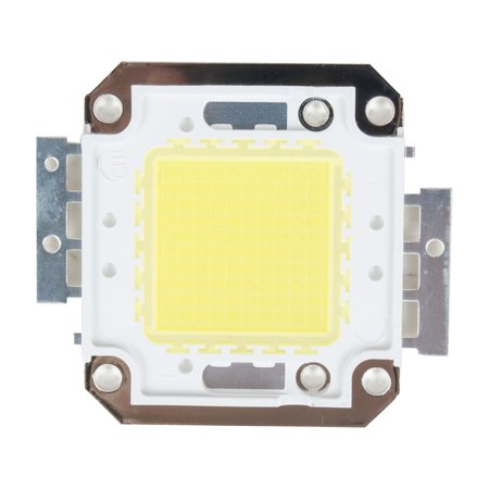 Unique Bargains DC31-36V 51.5mmx46mm Pure White 50W LED SMD Chip Light Bead for Flood Light Lamp Flood Pure Form