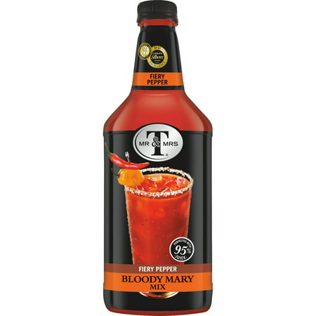 Mr & Mrs T Fiery Pepper Bloody Mary Mix, 1.75 L Bottle, 1 Count (Pack of