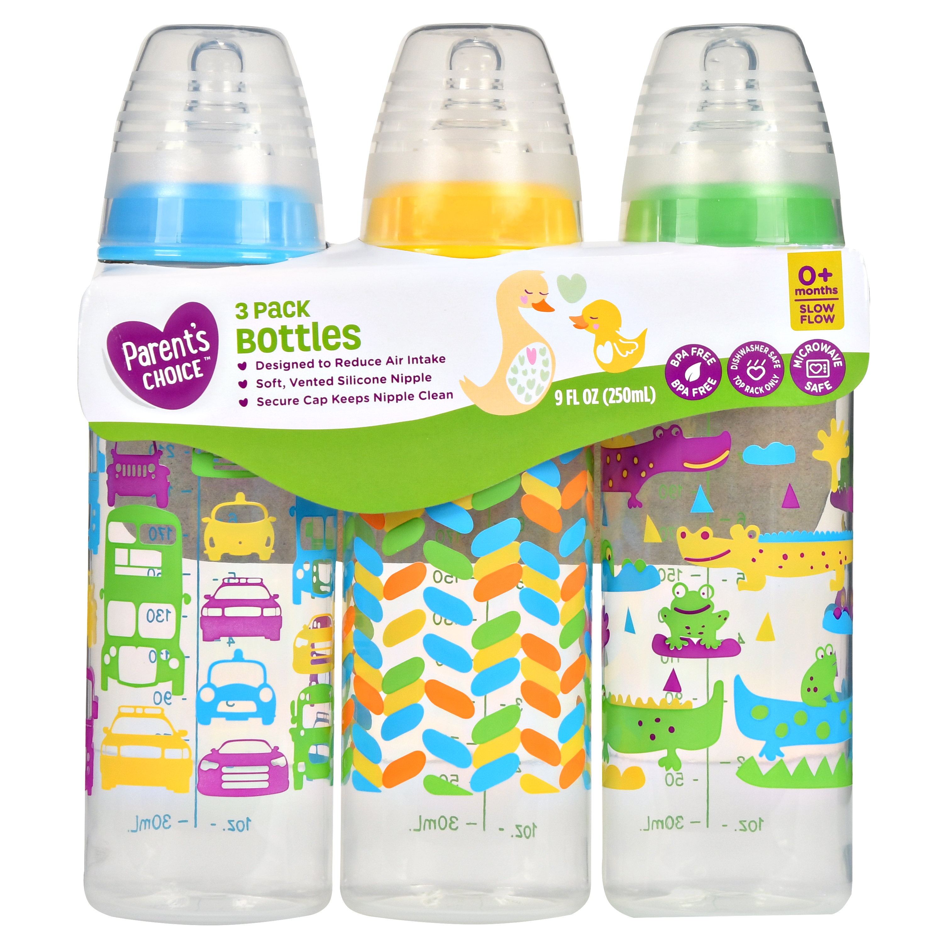 Parent's Choice Baby Bottles, 9 fl oz, 3 Count