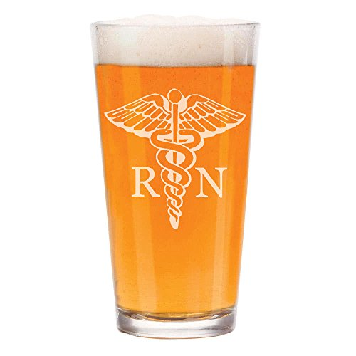16 oz Beer Pint Glass RN Registered Nurse by