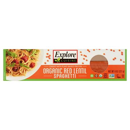 Explore Cuisine Organic Red Lentil Spaghetti, 8 oz, Case of 12