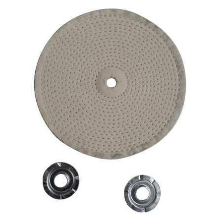 12U087 Spiral Sewn Buffing Wheel, 10 In Dia.