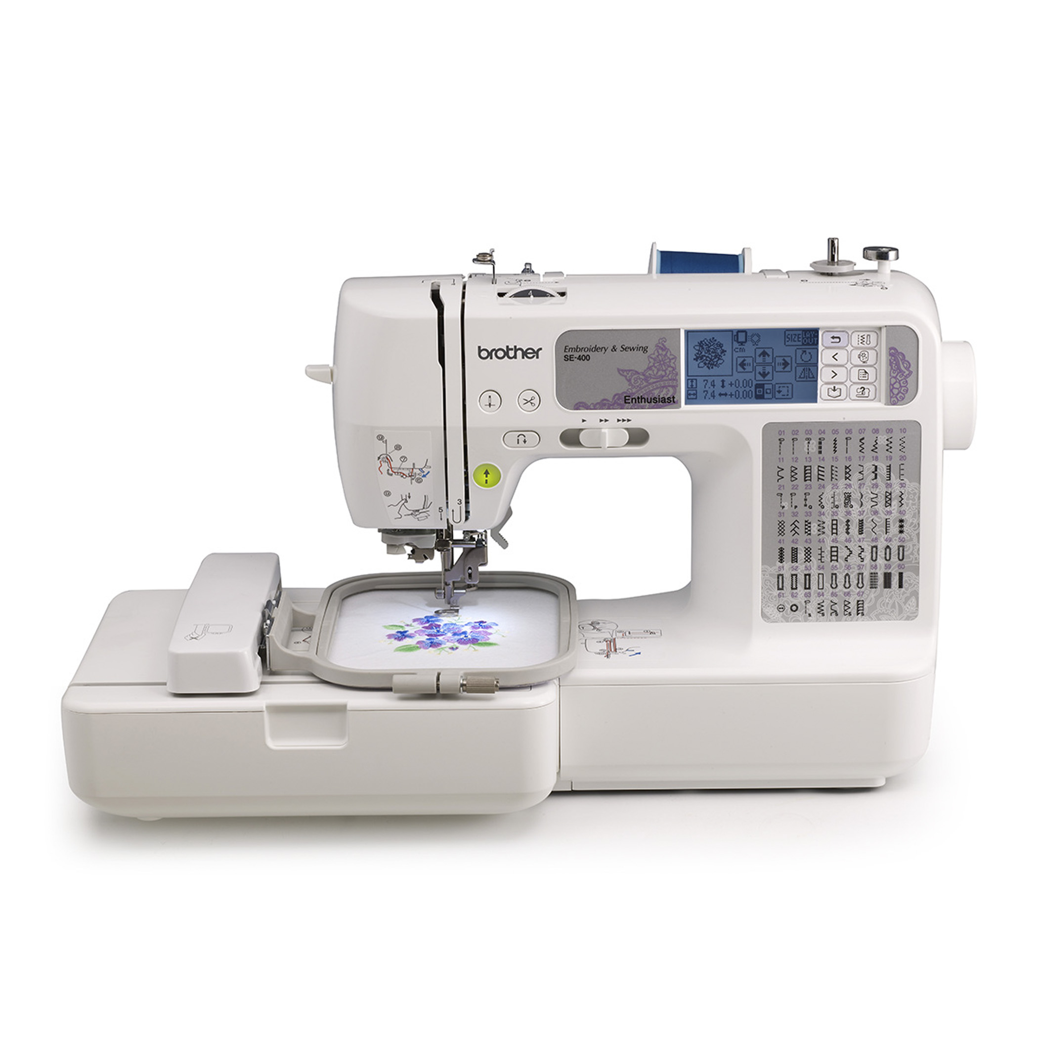 Brother Computerized Sewing And Embroidery Machine SE-400 - Walmart.com