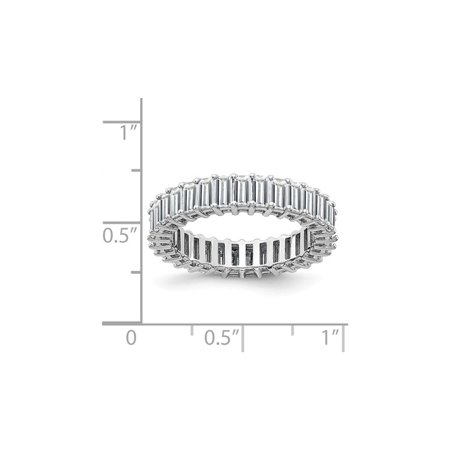 3.40 Carat (ctw) (3.70 Ct. Look) Synthetic Moissanite Eternity Wedding Band Ring in 14K White Gold - image 2 of 6