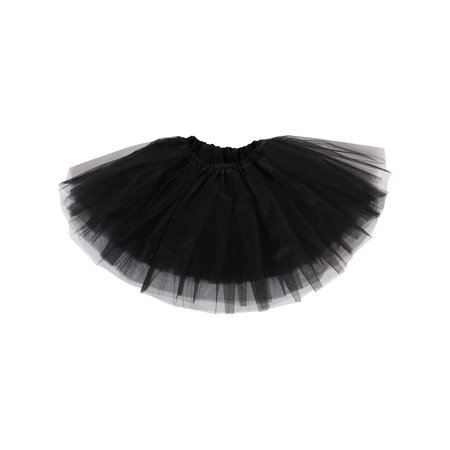 Girl Petticoat Ballet Dance Fluffy Tutu Skirt w/ Elastic Waist](Toddler Petticoat)