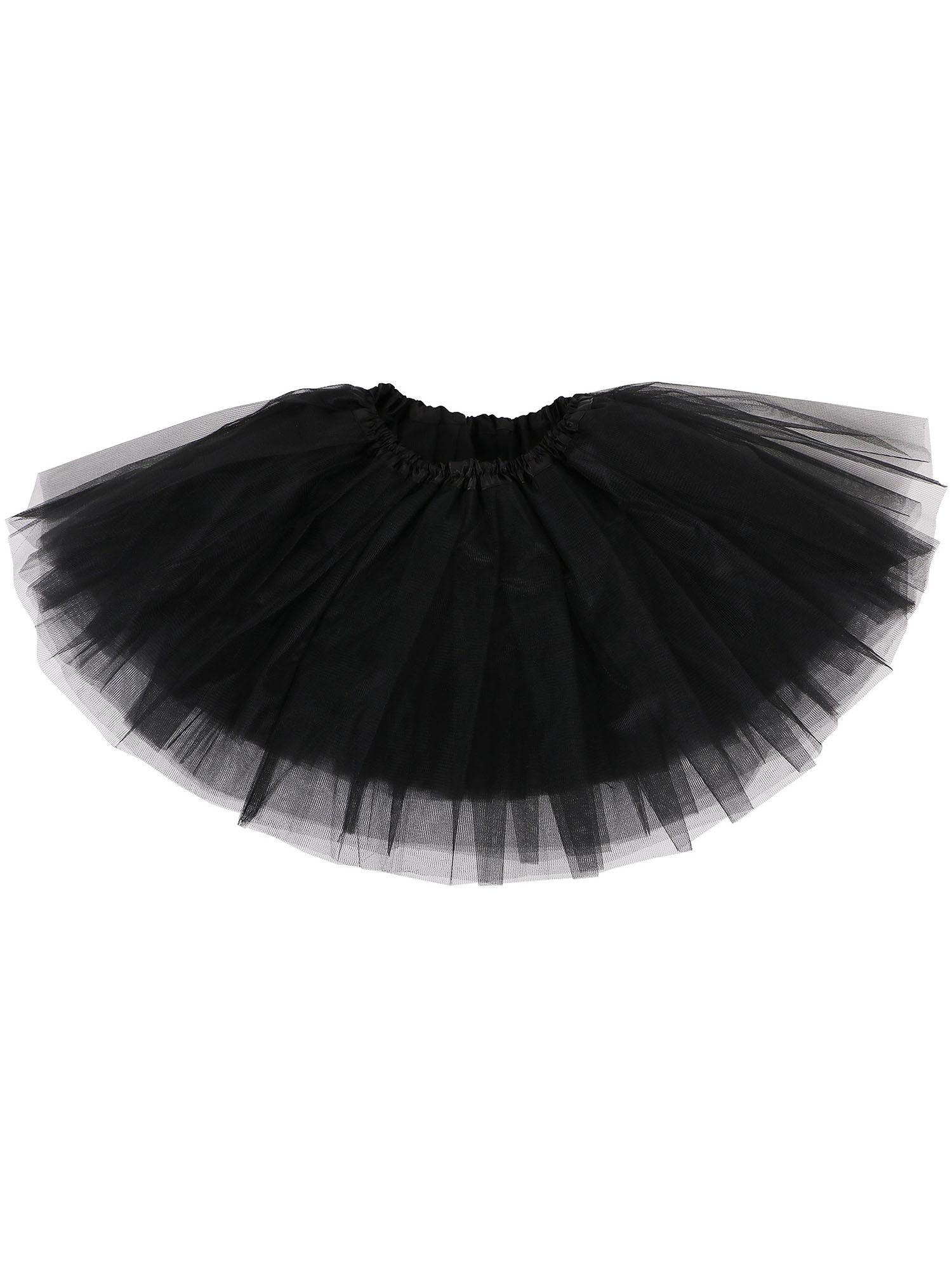 Girl Petticoat Ballet Dance Fluffy Tutu Skirt w/ Elastic Waist