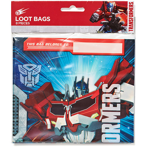 Transformers Treat Bags, Pack of 8, Party Supplies