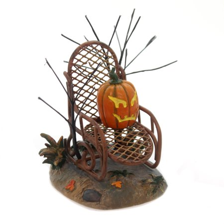 Department 56 Accessory HAUNTED PORCH ROCKER Halloween Village Pumpkin 6001742