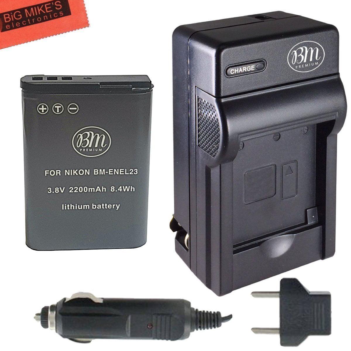 Bm Premium En El23 Battery And Charger For Nikon Coolpix