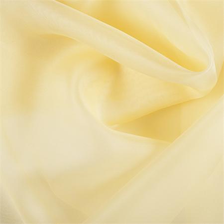 Yellow Silk Organza, Fabric By the Yard